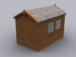 3d model garden shed