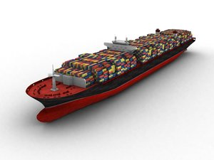 3ds max cargo ship