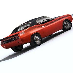 3d 1970 arr cuda sports car