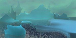 3d glacier model