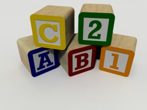 3d toy blocks alphabet model