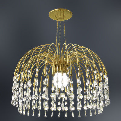 3d contemporary crystal chandelier