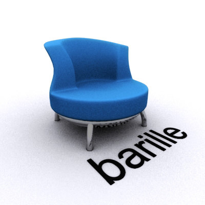 3d unique design chair model