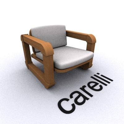 3ds max unique armchair