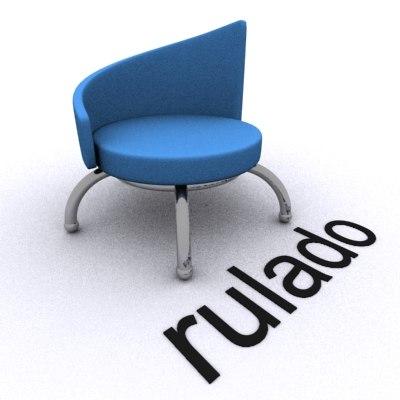 unique design chair 3d 3ds
