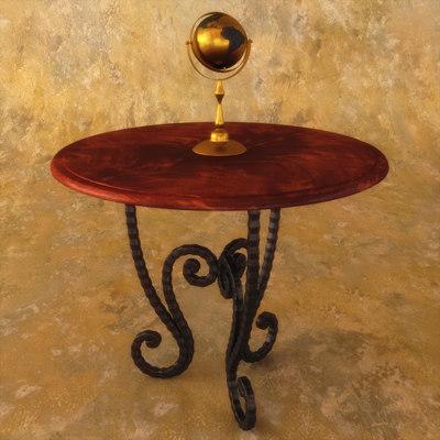 3d model italian center table