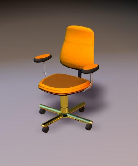 dxf office chair orange