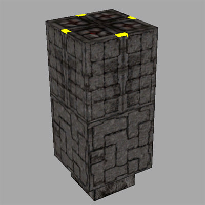 3d cryptic stone plinth model