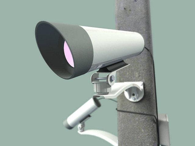 3d cctv cameras model