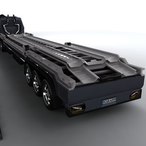 cars shipping concept truck 3d model