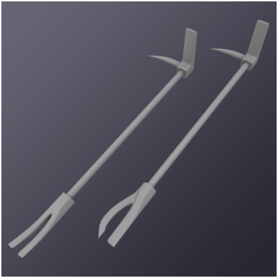 police hooligan tools bar 3d 3ds