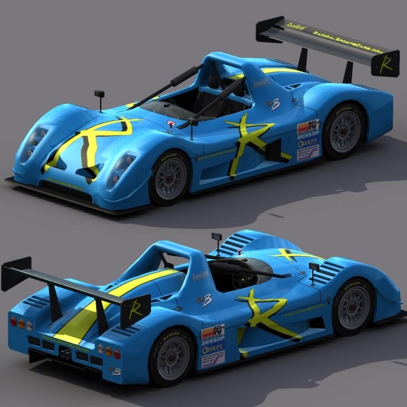 3d model radical sr8 racing