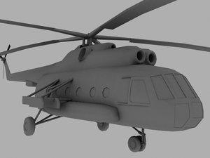 3d mi 8 soviet transport model