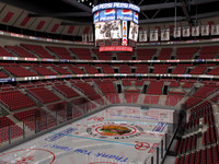 ice hockey arena stadium 3d model