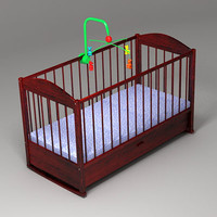 3d model crib carousel toy
