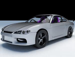 nissan silvia 3d model