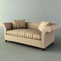 3d model flared sofa
