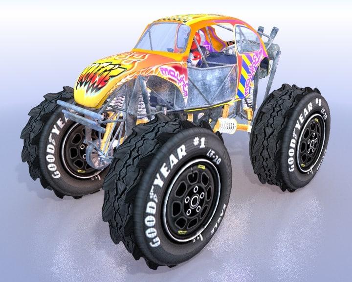 maya monster truck beetle