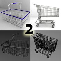 basket cart 3d model