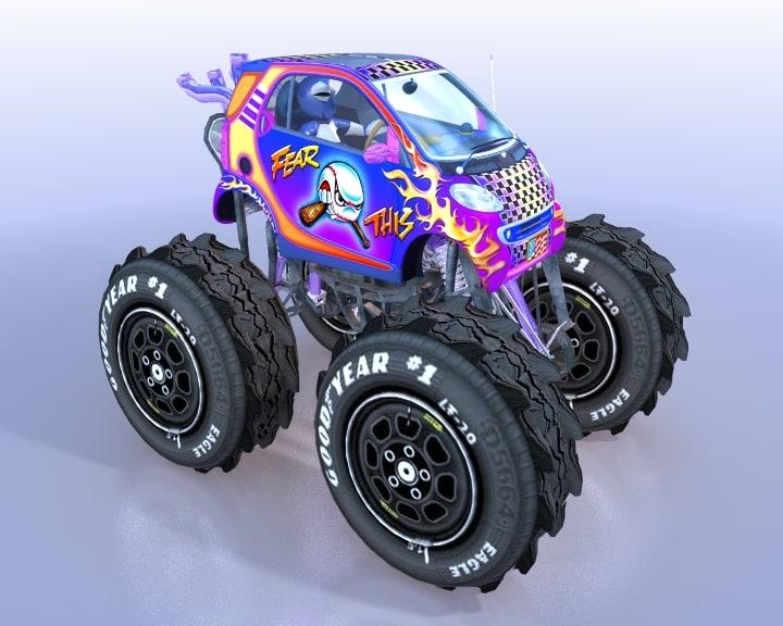 3d monster truck smart model