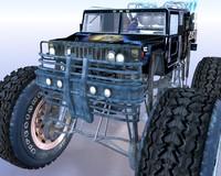 3d max monster truck hummer