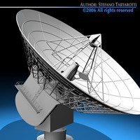 3d satellite antenna telescope model