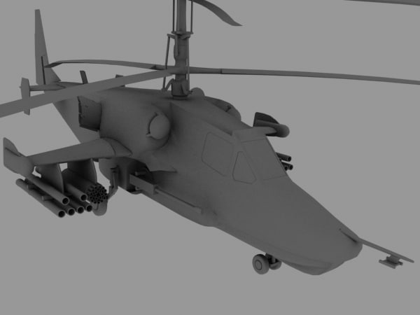 max ka 50 russian attack helicopter