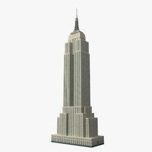 3d empire state building skyscrapers