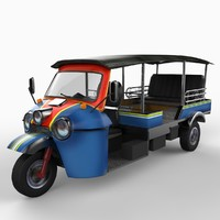 tuk-tuk rickshaw 3d c4d