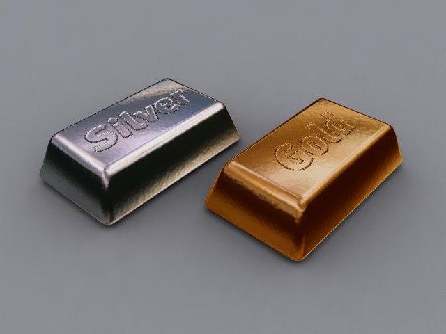 3dsmax gold silver bar
