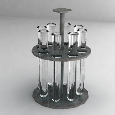 3d model test tubes