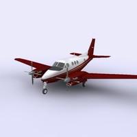 king air c90b 3d model