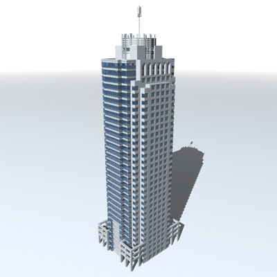 3d office tower
