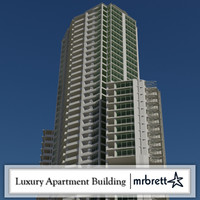 70 story luxury apartment building 3d max