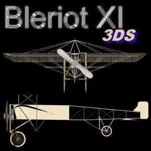 3d model french bleriot xi