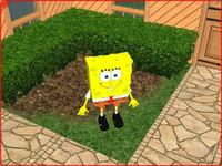 spongebob squarepants 3d obj