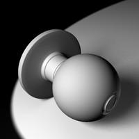 3d doorknob knob model