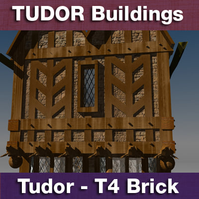 3d model of t4 tudor style medieval building