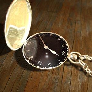 gold pocket watch 3d max