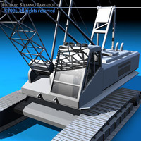 3d model of crawler crane