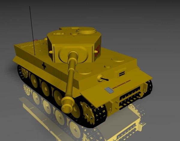 cinema4d german tiger 1 tank
