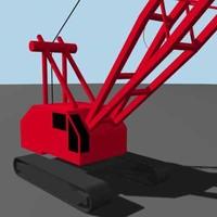 construction crane 3d max