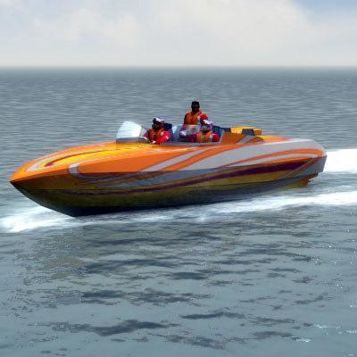 3d speedboat pilot