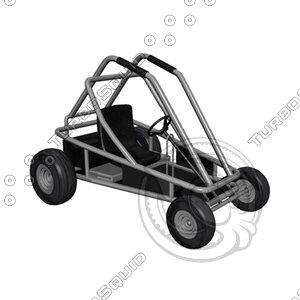 gokart 3d model