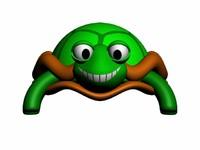 funny turtle 3d model