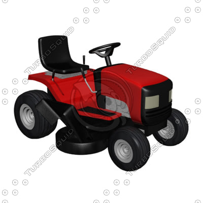 lawn tractor 3d model