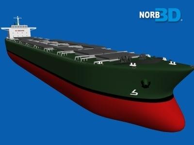 bulk ship 3d 3ds