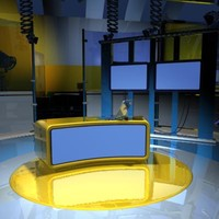 3d model virtual tv studio set