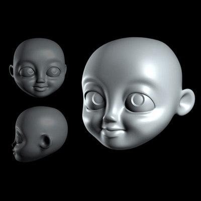 3dsmax cartoon head