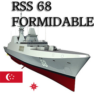 formidable class frigates singapore 3d model